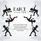 Dance studio avatar dancer design vector illustration