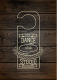 Dance studio badges logos and labels for any use Stock Photos