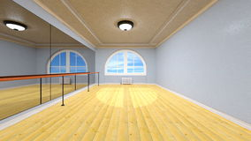 Dance studio. 3D CG rendering of dance studio royalty free stock photos