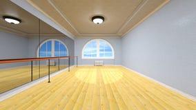 Dance studio. 3D CG rendering of dance studio Royalty Free Stock Photos
