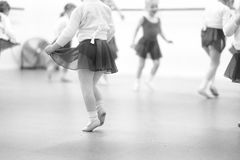 A dance studio. Little children at a rehearsal in a dance studio stock photography