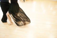 Dance studio. Youth couple dancing royalty free stock photography