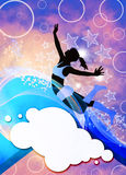 Dance style background Stock Image