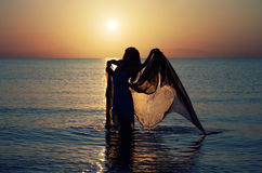 Dance at Sunset Royalty Free Stock Images