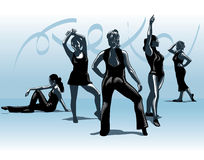 Dance team Royalty Free Stock Images