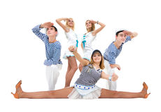Dance team wearing a sailor uniform Stock Photos