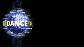 DANCE Text Around Disco Ball, Background, Computer Graphics, Royalty Free Stock Images