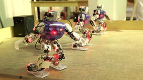 The dance of three robots stock footage