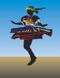 Dance traditional vector women. Retro dance girl, silhouette, illustration Stock Images