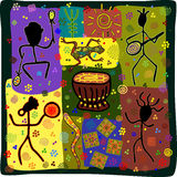 Dance tribe. Pattern in African style dance depicting the tribe Royalty Free Stock Photography