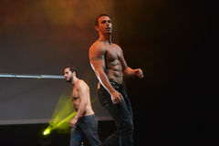 The dance troupe Chippendales performance Stock Photography