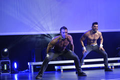 The dance troupe Chippendales performance Royalty Free Stock Images