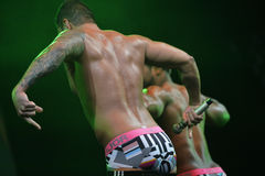 The dance troupe Chippendales performance Stock Photo