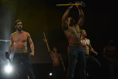 The dance troupe Chippendales performance Stock Images