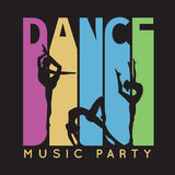 Dance typography, t-shirt graphics. illustration Royalty Free Stock Images