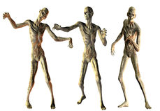 Dance of the undead zombies Stock Image