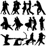 Dance vector. Collection of couple dance vector Royalty Free Stock Images