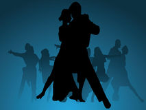Dance vector background. Vector background of dancing couples Royalty Free Stock Image