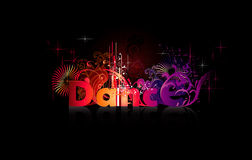 Dance vector word Stock Image