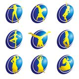 Dance web icons Royalty Free Stock Images