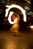 Dance whit fire Stock Photos