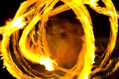 Dance whit fire Royalty Free Stock Photos