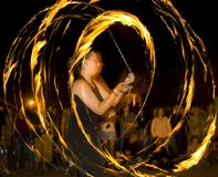 Dance whit fire Stock Images