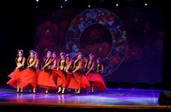 Send you a rose 4 -Chinese national dance in Xinjiang. It is a dance widely distributed in the Uygur ethnic group, accompanied by the music of the king of the Royalty Free Stock Photo