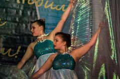 Dance with wings in the contest Life in dance in the town of Kondrovo, Kaluga region in Russia in 2016. Royalty Free Stock Photography