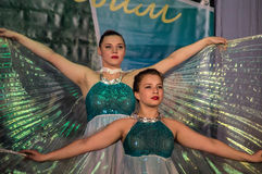 Dance with wings in the contest Life in dance in the town of Kondrovo, Kaluga region in Russia in 2016. Royalty Free Stock Images