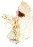 Dance woman over white background Royalty Free Stock Photos
