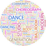 DANCE. Word cloud concept illustration. Wordcloud collage Royalty Free Stock Images