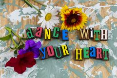 Dance heart soul emotion royalty free stock images