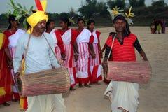 Danceer tribale Immagini Stock