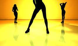 Dancefloor. 3D rendered Illustration Royalty Free Stock Images