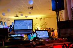 Dancefloor, partyjny pojęcie z tanów ludźmi Obrazy Stock
