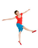 Dancer. Modern dancing performer isolated on white royalty free stock photography