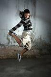 Dancer. Portrait of break dancer in action stock photos