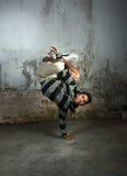 Dancer. Portrait of break dancer in action royalty free stock photos