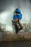 Dancer. Portrait of break dancer in action royalty free stock image