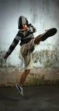 Dancer. Portrait of break dancer in action stock image