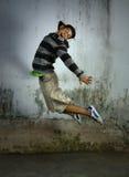 Dancer. Portrait of hip hop dancer in action stock images