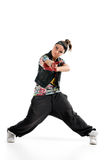 Dancer. Cool breakdancer isolated on white royalty free stock images