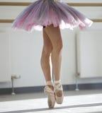 Dancer. Close up of ballerinas legs stock photos