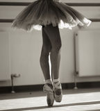Dancer. Close up of ballerinas legs Stock Photography