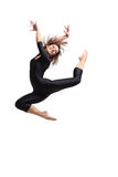 The dancer. Modern dancer poses in front of the studio background Stock Photography