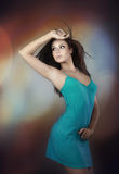 Dancer. Beauty young woman dances.Color image Royalty Free Stock Photos