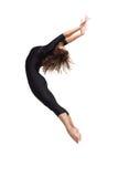Dancer. Modern style dancer posing on studio background Stock Photography