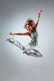 The dancer. Young and beautiful dancer posing in studio royalty free stock photo