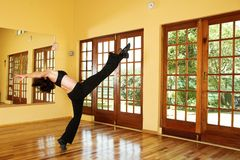 Dancer #24. A Female Dancer practicing in her studio royalty free stock images